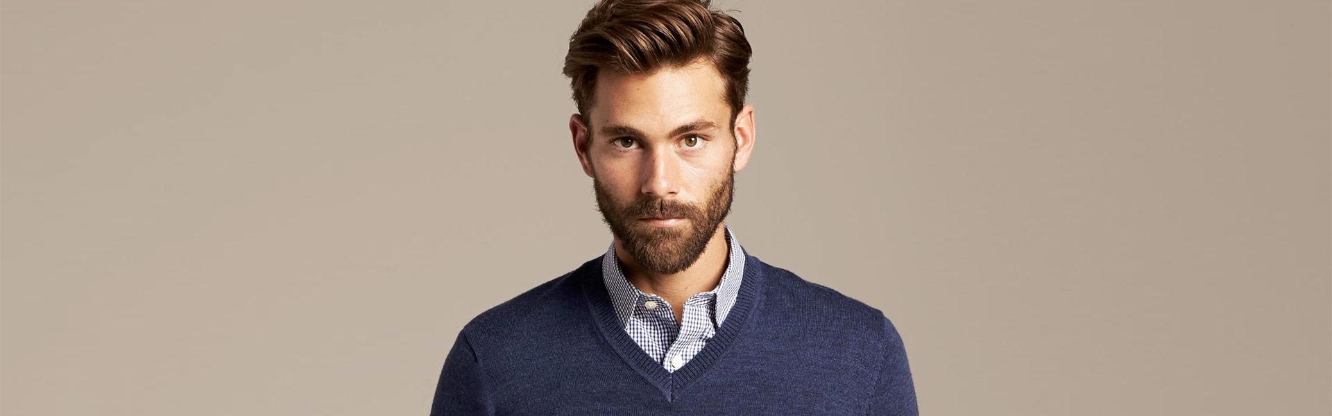 Das Perfekte Outfit Für Männer Pullover Mit Hemd Girav