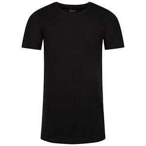 Schwarze T-Shirts mit Rundhalsausschnitt