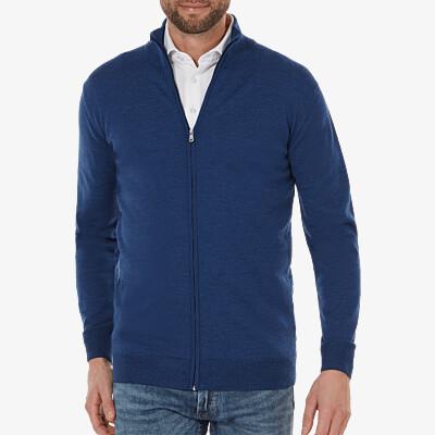 Seattle Strickjacke, Jeans blue melange