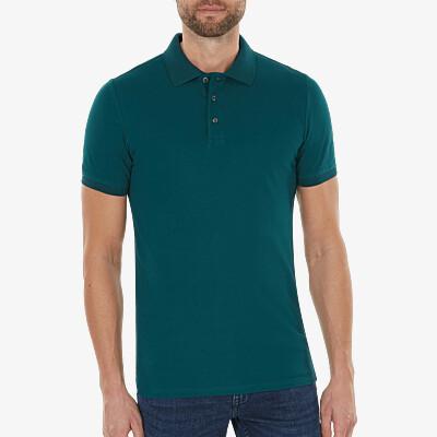 Marbella Slim Fit Poloshirt, dunkelgrün