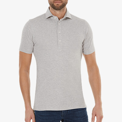 Lagos Poloshirt, Graumeliert