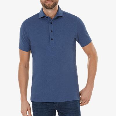 Lagos Poloshirt, Jeans meliert