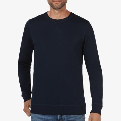 Lange regular fit Girav Princeton Light Sweatshirt in Navy mit Rundhalsausschnitt für Männer