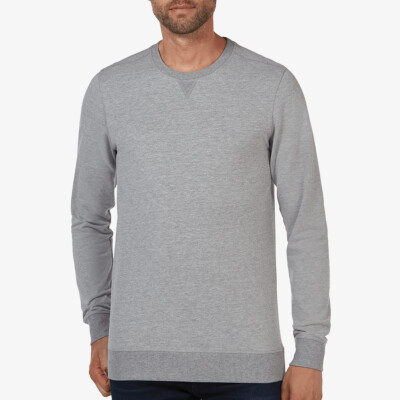 Grau Meliert regular fit Girav Princeton Light sweater für Herren
