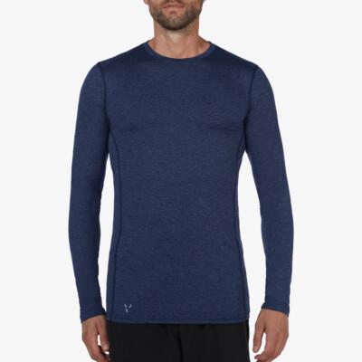 St. Anton Thermoshirt, Estate blue meliert