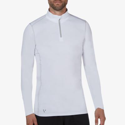 Serfaus Thermoshirt mit Reißverschluss, Weiß