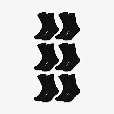 Black long seamless Girav Oxford comfortable socks for men