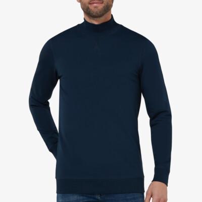 Atlanta Sweatshirt mit Stehkragen, Navy