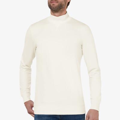 Atlanta Sweatshirt mit Stehkragen, Off White