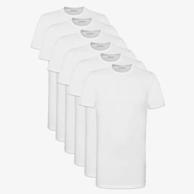 Bangkok SixPack T-Shirts, 6er-Pack Weiß (3x 2er-Pack)