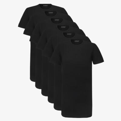 Bangkok SixPack T-Shirts, 6er-Pack schwarz (3x 2er-Pack)