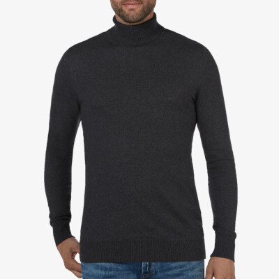 Bari Light Rollkragenpullover, Anthrazit
