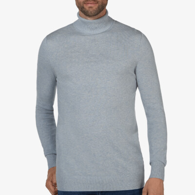 Bari Light Rollkragenpullover, Light blue