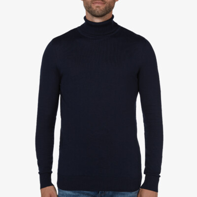 Bari Light Rollkragenpullover, Navy