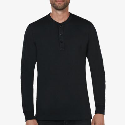 Blackpool Henley Sweater, Schwarz