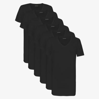 Hong Kong SixPack T-Shirts, 6er-Pack Schwarz (3x 2er-Pack)