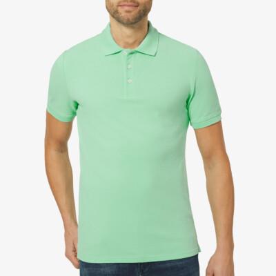Marbella Slim Fit Poloshirt, Ice Geen