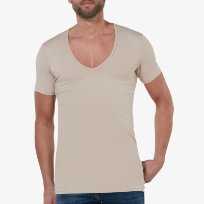 girav-lang-tshirt-wit-stretch-deepv-hals-milano