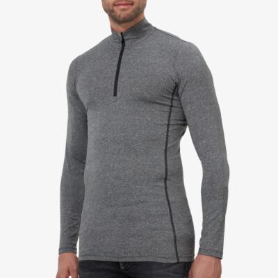 Serfaus Thermoshirt mit Reißverschluss, Dunkelgrau