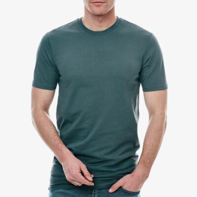 Girav Long Fit Herren T-Shirt Sydney, 1er-Pack Grüngrau