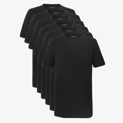 Sydney SixPack T-Shirts, 6er-Pack Schwarz (3x 2er-Pack)