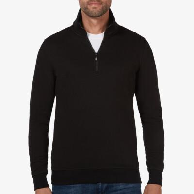 Yale, Sweatshirt mit Reißverschluss, Schwarz