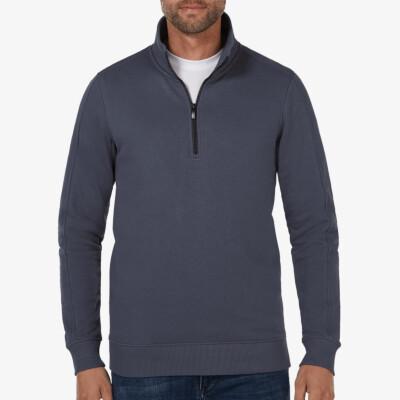 Yale, Sweatshirt mit Reißverschluss, Stone blue