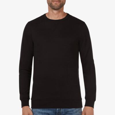 Langes Girav Cambridge regular fit Sweatshirt in schwarz mit Rundhalsausschnitt für Männer
