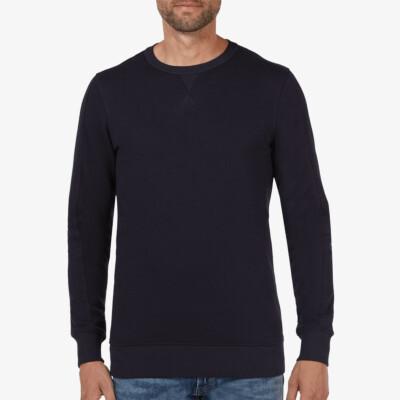 Lange regular fit Girav Cambridge Sweatshirt in navy mit Rundhalsausschnitt für Männer