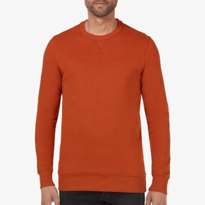 Cambridge Sweatshirt, Rostfarben