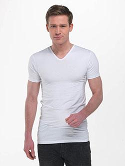 Langes weißes T-Shirt für Männer