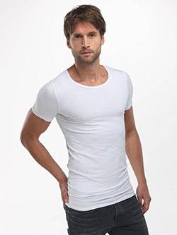 Langes weißes T-Shirt für Herren